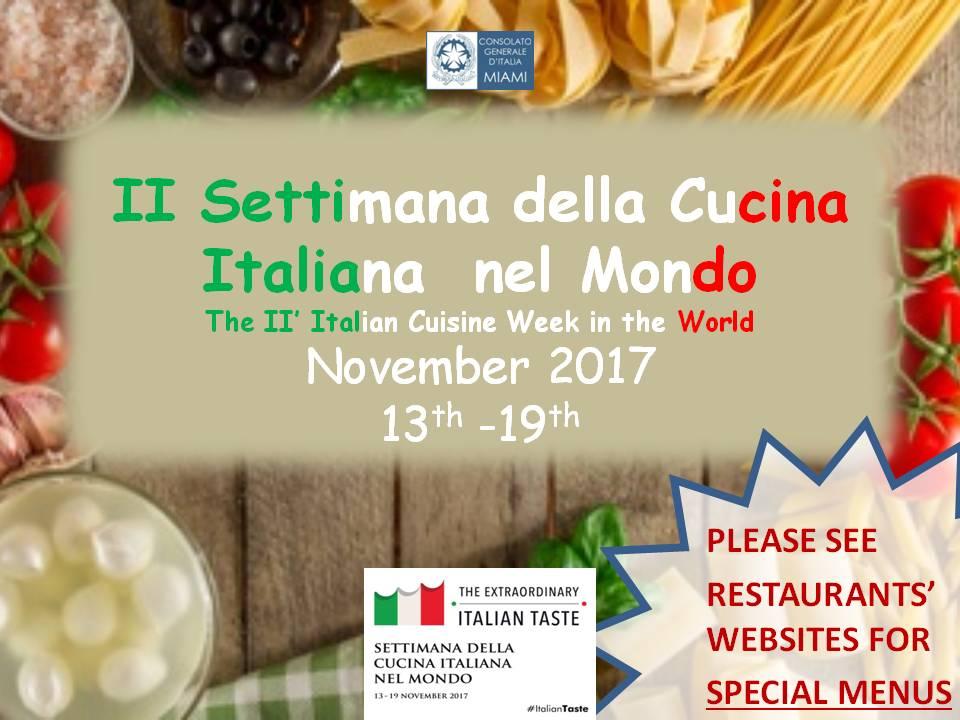 II Settimana della Cucina Italiana nel Mondo