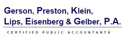 Gerson, Preston, Klein, Lips, Eisenberg & Gelber, Certified Public Accountants